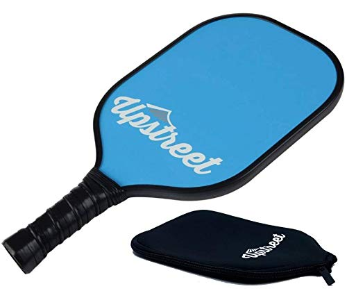 Upstreet Graphite Pickleball Paddle with Neoprene Pickleball Paddle Cover - Lightweight Polypropylene Honeycomb Composite Core