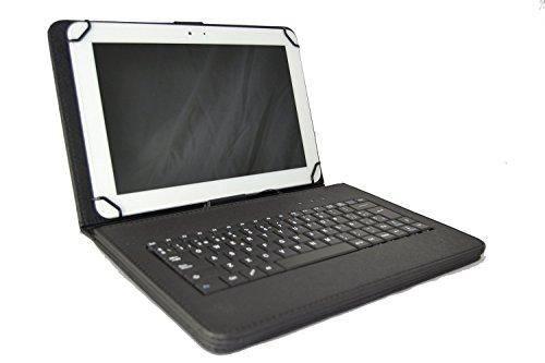 Theoutlettablet® Schutzhülle mit Tastatur für Lenovo Tab 2 A10-30 X30F 10,1 Zoll (25,7 cm)