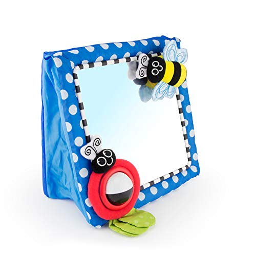 Sassy Tummy Time Floor Mirror | Developmental Baby Toy | Newborn Essential for Tummy Time | Great Shower Gift (Baby Product)