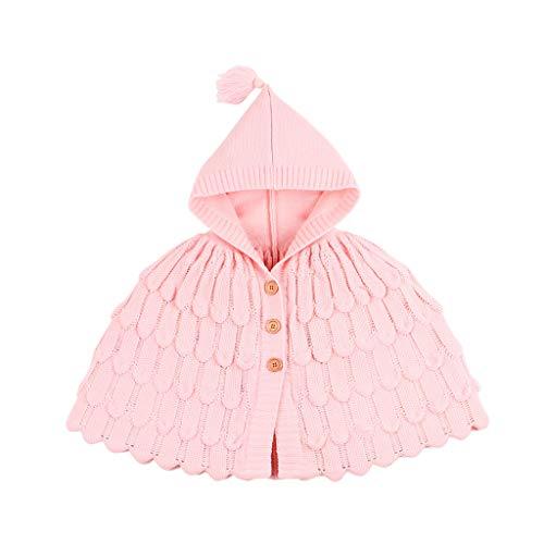 Livoral Kinder Winter MantelKleinkind Kind Baby Mädchen Winter Jacke warme Jacke Strickjacke Kapuzenpullover(Rosa,90)