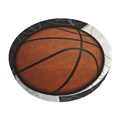 Round Bar Stools Cover,Basketball Sport Design,Stretch Chair Seat Bar Stool Cover Seat Cushion Slipcovers Chair Cushion Cover Round Lift Chair Stool