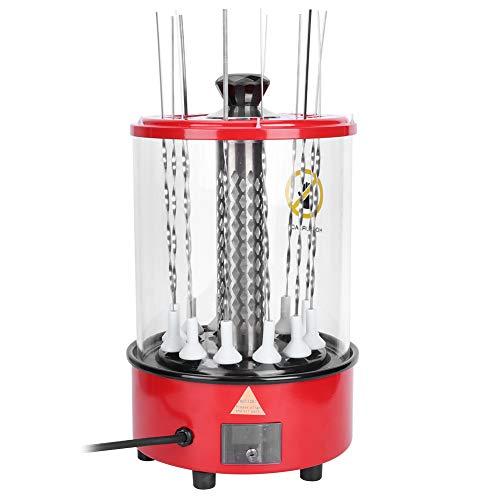 Tischgrill elektrisch | Schaschlikgrill Elektrogrill Tischgrill aus Edelstahl für das Kochen im Freien und im Innenbereich (EU-Stecker 220 V)(UE Prise 220V)