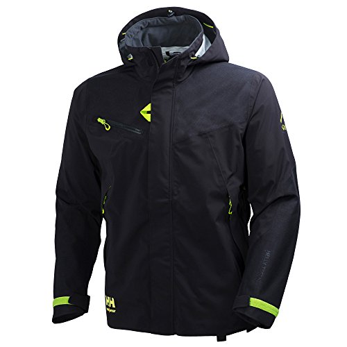 Helly Hansen Workwear Shell Jacke Magni, L / M, 1 Stück, schwarz / grün, 34-071161-990-L