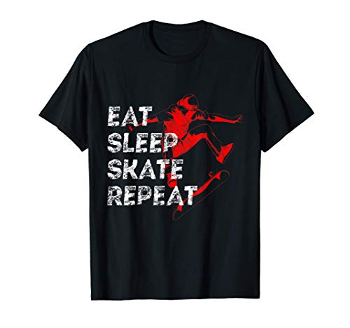 Eat Sleep Skate Repeat Skateboarder Geschenk T-Shirt
