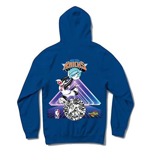 Diamond Supply Co. x NBA Space Jam 2 Men's New York Knicks Long Sleeve Pullover Hoodie Royal Blue S