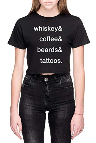 Passions Dames Crop T-Shirt Zwart Women's Crop T-Shirt Black