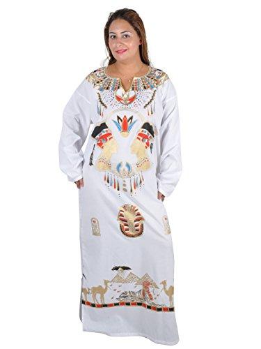 Kleopatra Pharao Kostüm, Fasching Fastnacht Karneval Kleider aus dem Orient Ägypterin, weiß (44-46 (L))