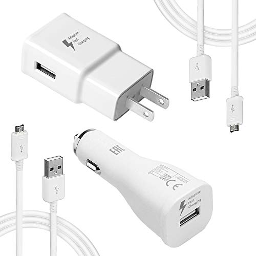 MBLAI Fast Charge Adaptive Fast Charger Kit for Samsung Galaxy S7/S7 Edge/S6/Note5/4 /S3,USB 2.0 Fast Charging Kit True Digital Adaptive Fast Charging (S7 Fast Charger Set)