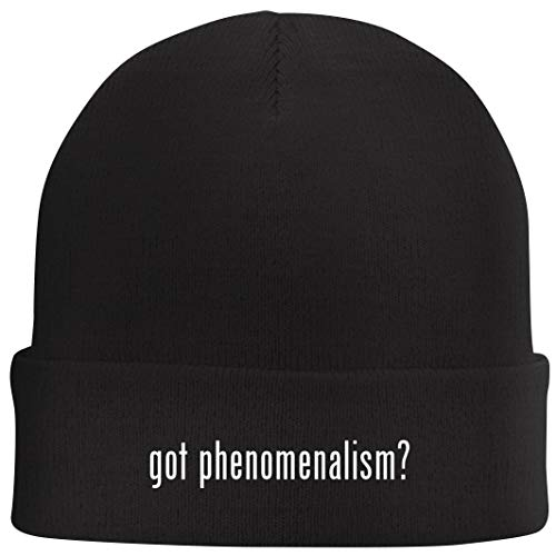 Tracy Gifts got Phenomenalism? - Beanie Skull Cap with Fleece Liner, Black