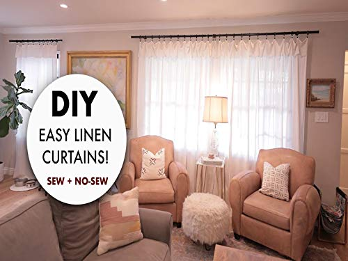 Do It Yourself How To Make Easy Linen Curtains! Sew And No Sew! By Orly Shani