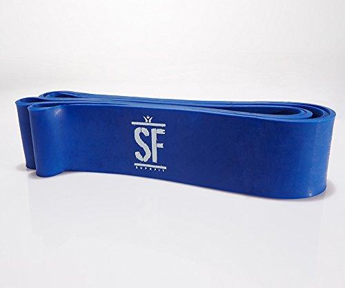 Suprfit Fascia Training | Elastico per trazioni | Elastico Fitness | Bodyweight | Materiale: Lattice Naturale | Lunghezza: Max. 102,5 cm | Spessori: Extra Resistente - Fino a 68 kg | Colore: Blu