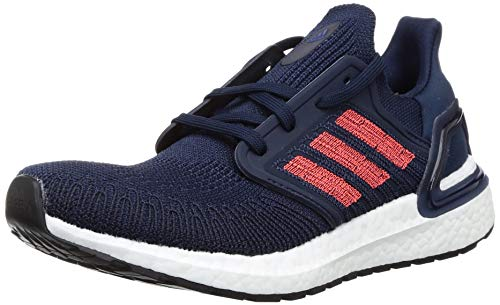 adidas Herren Ultraboost 20 Laufschuhe, Blau (Collegiate Navy/SOLAR RED/Blue Team ROYAL), 43 1/3 EU
