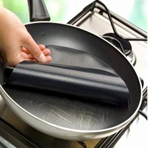 Pan de teflón Antiadherente en la Estera no lámina de Revestimiento Wok Mats Cocina Utensilios de Cocina Temperatura No - Cacerola Antiadherente sartén Liner No pegajoso
