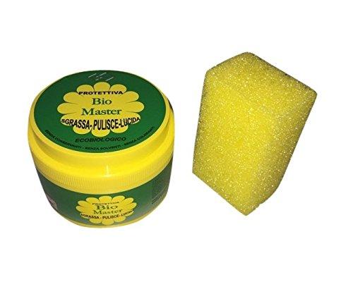 Pasta Protettiva Sapone Detergente Bio Master Sgrassa Pulisce Lucida Cappa Cucina Auto Forno Lavello Lavandino 100% biodegradabile 400g ( NO BIO MEX)Fastshopping