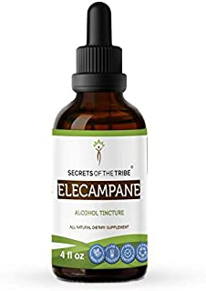 Elecampane Tincture Alcohol Liquid Extract, Organic Elecampane (Inula Helenium) Dried Root (4 FL OZ)