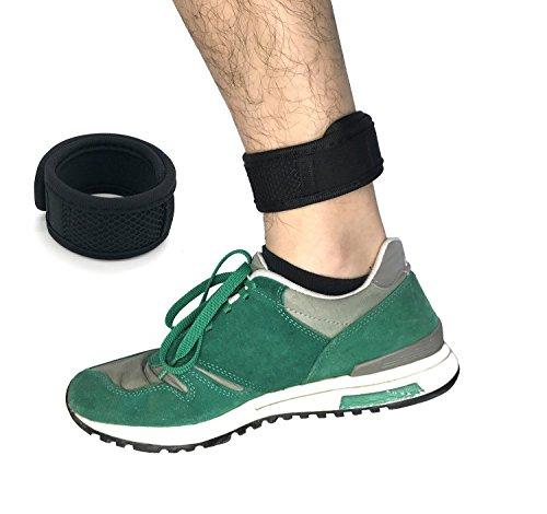 CAREOR Pulsera Ajustable con Brazo y Tobillo de Material OK con Velcro y Bolsa de Malla para Garmin & FitBit ONE/FitBit Flex 2/FitBit ALTA/ALTA HR, Black 9-11''