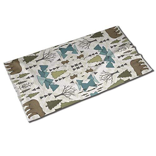 Bear Mountain - Sarcelle, sauge, tissu crème - foulard tête de variété de fougère Bandanas Balaclava Neck Gaiter Head Wrap