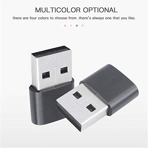 USB3.1 C Female to USB Male Adapter(3 Pack),Type C to USB A Charger Cable Adapter for Compatible with Laptops, Power Banks, Chargers