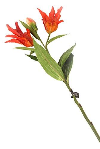 Closer 2 Nature künstliche Blumen Floral Elegance, Orientalische Lilie in, 87 cm, orange