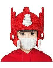 GQQ Sombrero de punto a mano, cálido gorro de invierno, para invierno, grueso, resistente al viento, gorro de esquí, gorro, gorro de mujer, para Navidad, cumpleaños, rojo, 60 y 62 cm