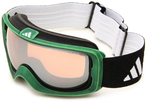 adidas Id2 Pure A182-50-6055 Shield Sunglasses,Green Washed Frame/LST Bright Mirror Lens,One Size