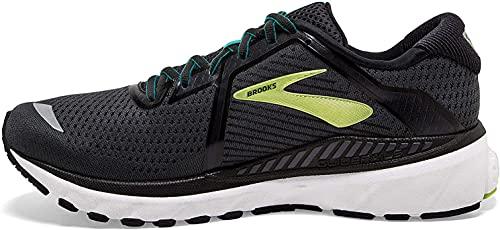 Brooks Adrenaline GTS 20, Zapatillas para Correr para Hombre, Black/Lime/Blue Grass, 42.5 EU