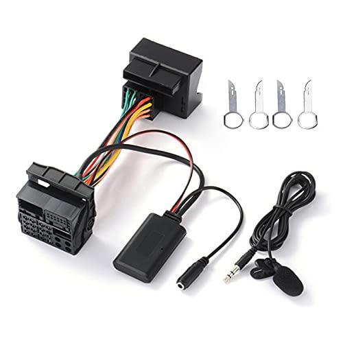 Impetuous Bluetooth AUX-IN Audio Cable de Audio Adaptador de arnés Fit Duable for Ford Mondeo Enfoque con micrófono Accesorios de Estilo de automóvil