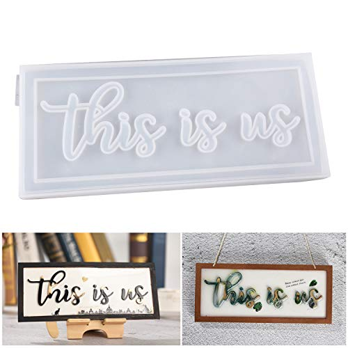 LETS RESIN Word Sign Molds-This is us Sign Molds, Silicone Resin Molds Casting Epoxy Resin Molds to Indoor/Home Decor, Home Sign/Wall Art/Wall Hanging