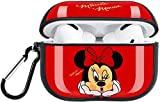 DAISEN Cute Minnie Mouse AirPods Pro Cover Accessories Soft Silicone Fully Protected Shockproof Case with Keychain Compatible with Apple AirPods Pro (Red)