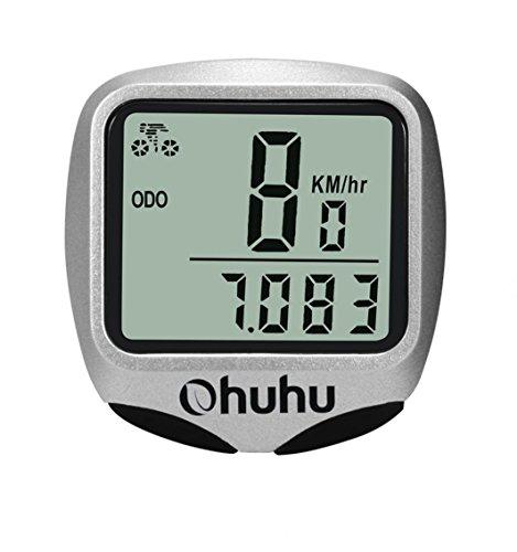 Ohuhu Ciclo Computer Digitale Wireless Impermeabile per Bici, Contachilometri Display LCD con Retroilluminazione, Multiuso