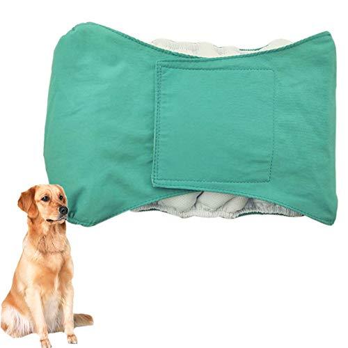 Rüdenwindel Hundewindeln Rüde Waschbare Hundewindeln Hosen für Hunde in der Saison Hygienehosen für Hunde Hund Windeln männlich Blue,L