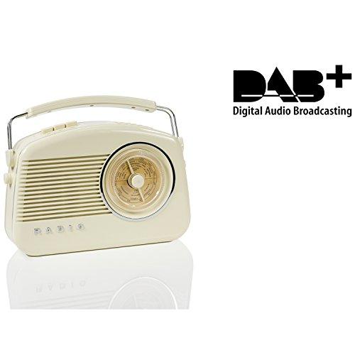 König HAV-TR900BE DAB+ Retro-Radio beige