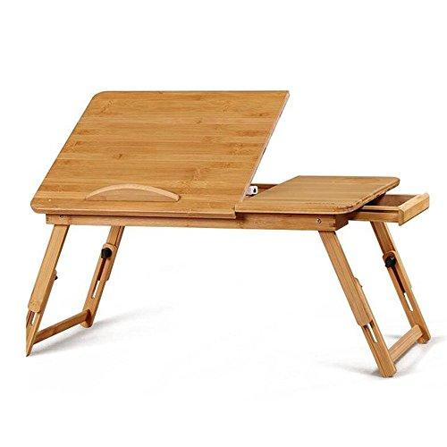 Zaixi Table Ajustable pour Ordinateur Portable, Table Pliante, Table de literie Forte capacité portante (Taille : L90W25)