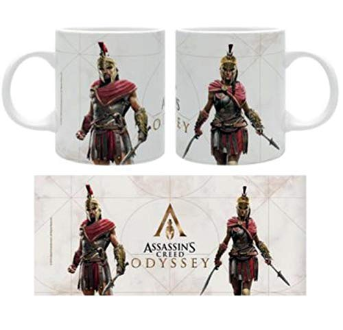 Assassin's Creed Mok Heroes – wit, bedrukt, van keramiek, inhoud ca. 320 ml.