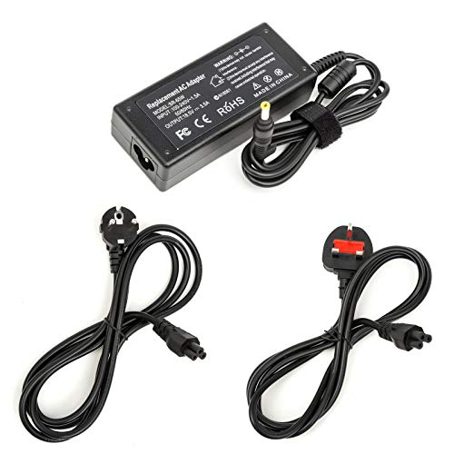 Laptop Charger 18.5v 3.5A 65W Power Supply Fits HP Compaq Pavillion Presario (Charger with No Mains Lead)
