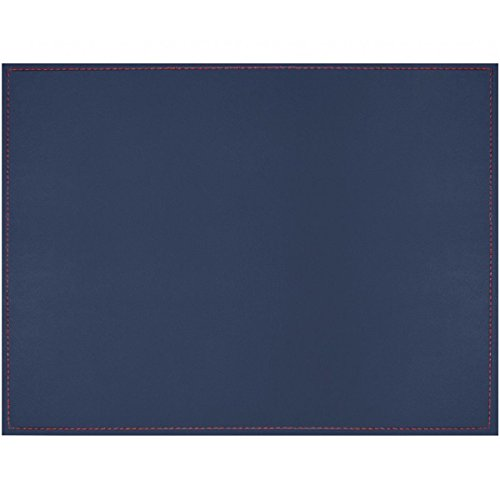Freeform Tisch-Sets of Kunstleder, blau/elfenbeinfarben, 40x 30cm
