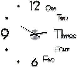 gaeruite 3D Modern Wall Clock Sticker, DIY 3D Wall Clock, Home Modern Living Room Kids Room Decoración de Oficina
