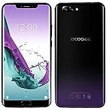 DOOGEE Y7 Plus Android 8.1 4G LTE Smartphone - Écran de 6,18 Pouces (1080 * 2246 FHD +), MT6757 2,5 GHz 6 Go + 64 Go, Caméra arrière Double de 16 MP + 13 MP, Batterie 5080mAh - Pourpre fantôme