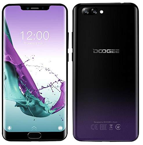 DOOGEE Y7 Plus Android 8.1 4G Smartphone Libre - Pantalla de 6.18 Pulgadas (1080 * 2246 FHD +), MT6757 2.5GHz 6GB + 64GB, diseño Delgado y Elegante, 16MP + 13MP, batería de 5080mAh - Fantasmapúrpura