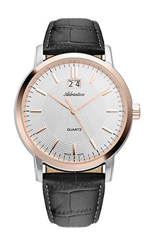 adriatica Uhr für ein Mann a8161.r213q Herren Armbanduhr Quarz Edelstahl Fall (bicolor–Rotgold-Finish)