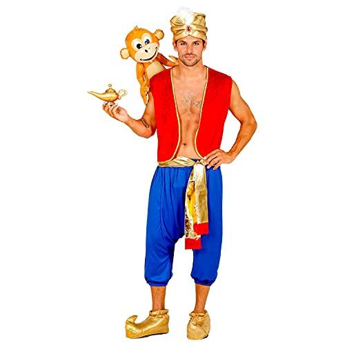 WIDMANN Widmann-10221 Disfraz de Aladdin, chaleco, pantalones, banda, turbante, rey de los ladrones, fiesta temática, carnaval, multicolor, small (10221)
