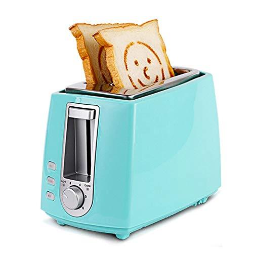 Toaster bags Tostadora compacta, Hogar Tostadora, Casa Desayuno máquina, Pequeño automática tortuga Conductor, Pequeño Sartén, cubierta de polvo, pan clip, cuchillo de mantequilla ( Color : Blue )