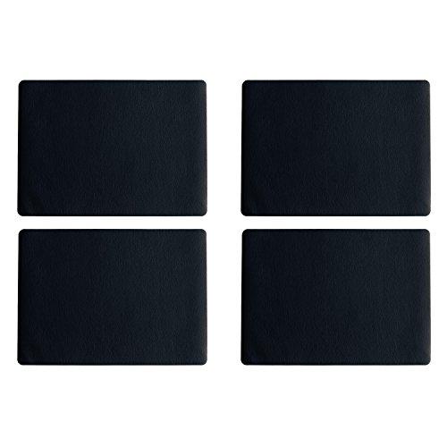 ASA Selection 7805420 table top Lederoptik Tischset, 46 x 33 cm, Kunststoff, schwarz (4er Pack)