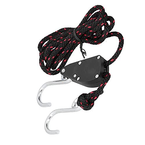 minifinker Bloqueo de Amarre de polea de Cuerda, suspensión de Cuerda Ajustable Fuerte y confiable para Evitar resbalones