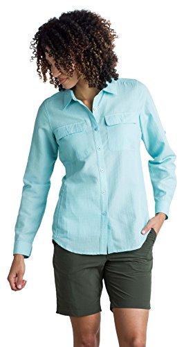 ExOfficio Women's Rotova Casual Long Sleeve Shirt, Icelandic, Large
