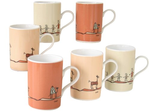CreaTable 10813, Serie Nature, Geschirrset Kaffeebecher Set 6 teilig