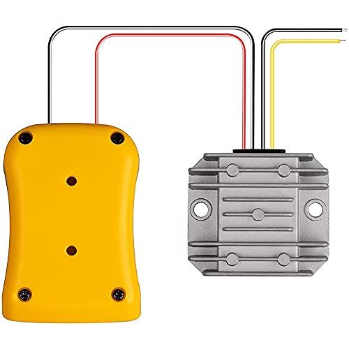Varadyle Adattatore e Convertitore di Tensione Step-Down per 20V un 12V Battery Dock Power 36W Inverter, Connettore