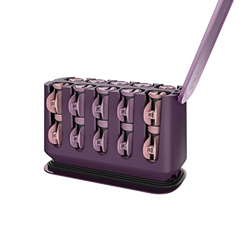 REMINGTON H9100S Pro Hair Setter with Thermaluxe Advanced Thermal Technology, Electric Hot Rollers, 1-1 ¼', Purple