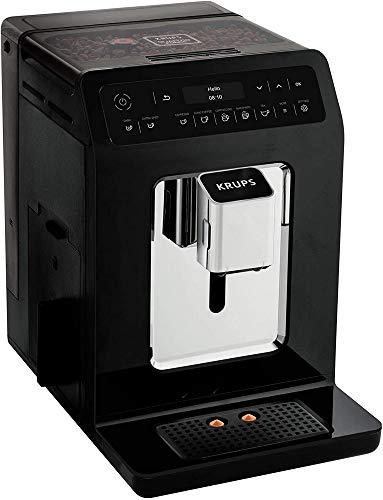 Krups EA8908 Evidence automatyczny ekspres do kawy, wyświetlacz OLED Barista Quattro Force, 12 wariantów kawy, 3 warianty herbaty, funkcja One-Touch, funkcja 2 filiżanek, kolor czarno-chromowany