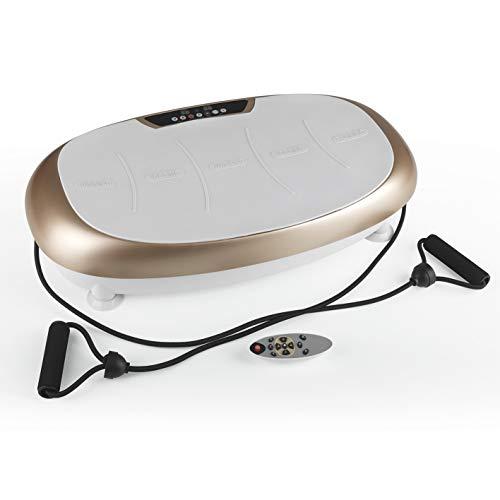 VITALmaxx Vibrationstrainer mit 99 Vibrationsstufen und 10 Programmen und LCD-Display | Ganzkörpertraining zu Hause, inklusive Expanderbänder